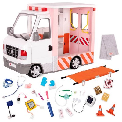 "Our Generation Rescue Ambulance Playset with Electronics for 18"" Dolls"