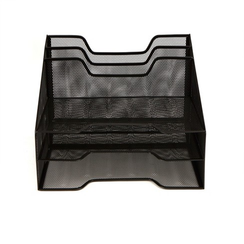 5 Compartment Mesh File Organizer Black - Mind Reader - image 1 of 4