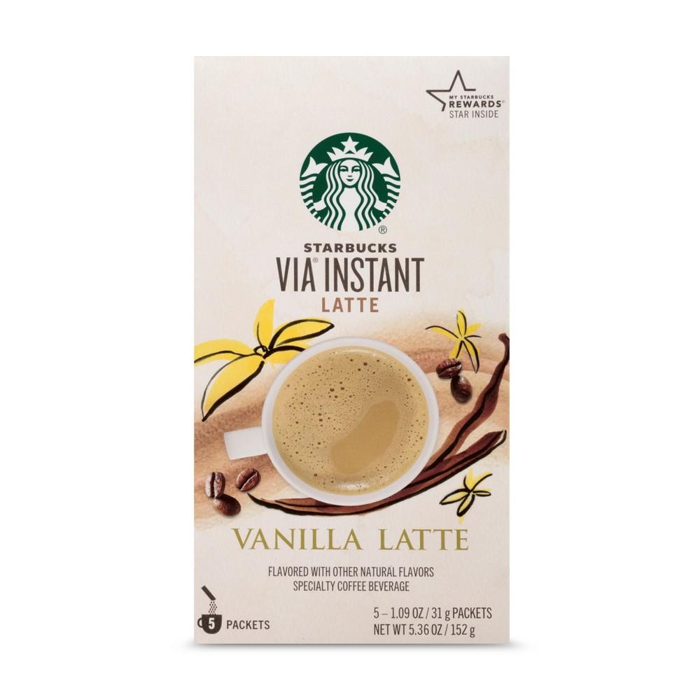 Starbucks VIA Instant Vanilla Latte - 5ct