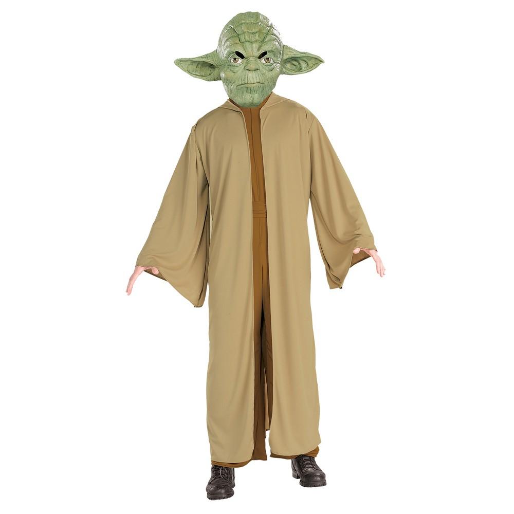 Star Wars Men's Yoda Adult Costume XL(42-46), Size: XL (42-46), Multi-Colored