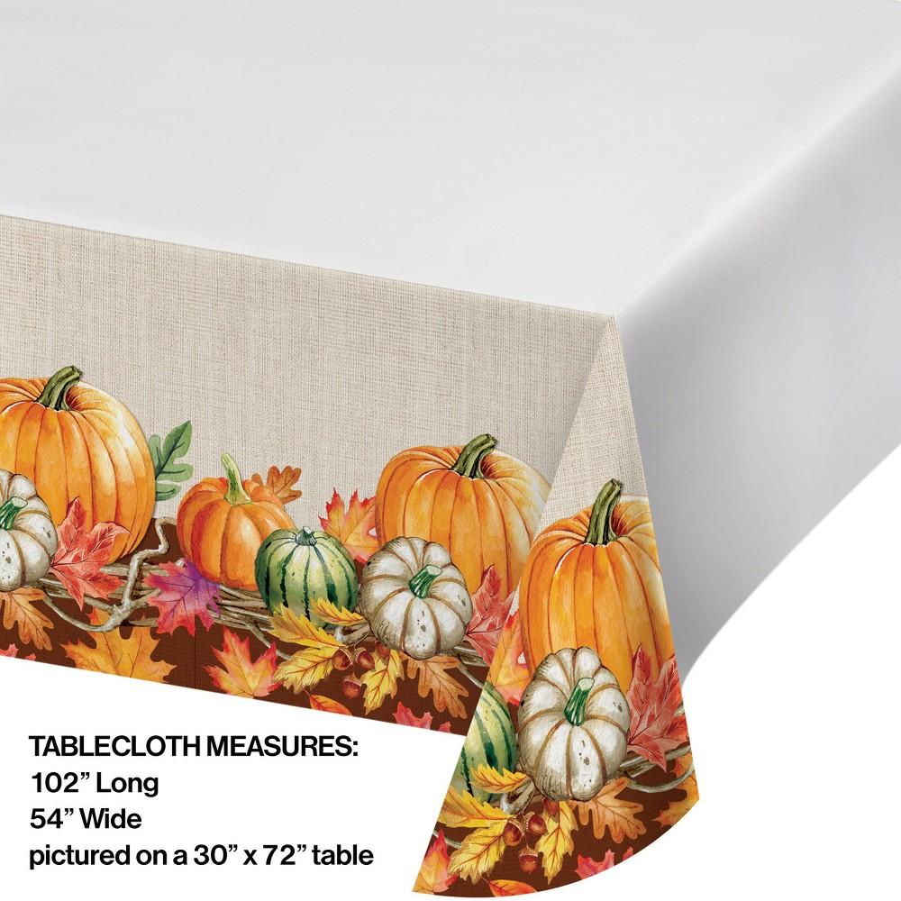 Harvest Wreath Plastic Tablecloth