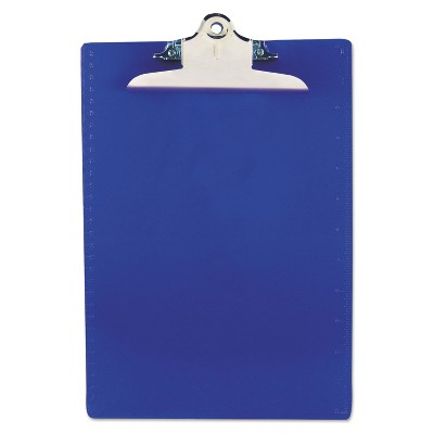"""Saunders Recycled Plastic Clipboards 1"""" Clip Cap 8 1/2 x 12 Sheets Blue 21602"""