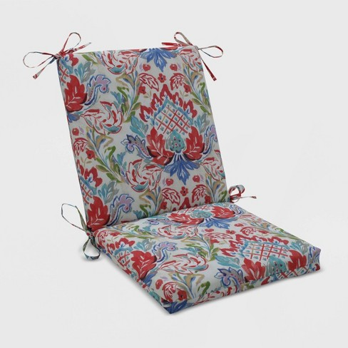 Flying Colors Confetti Squared Corners Outdoor Chair Cushion Pink Pillow Perfect