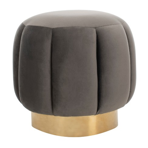 Awe Inspiring Maxine Channel Tufted Ottoman Dark Gray Safavieh Gmtry Best Dining Table And Chair Ideas Images Gmtryco