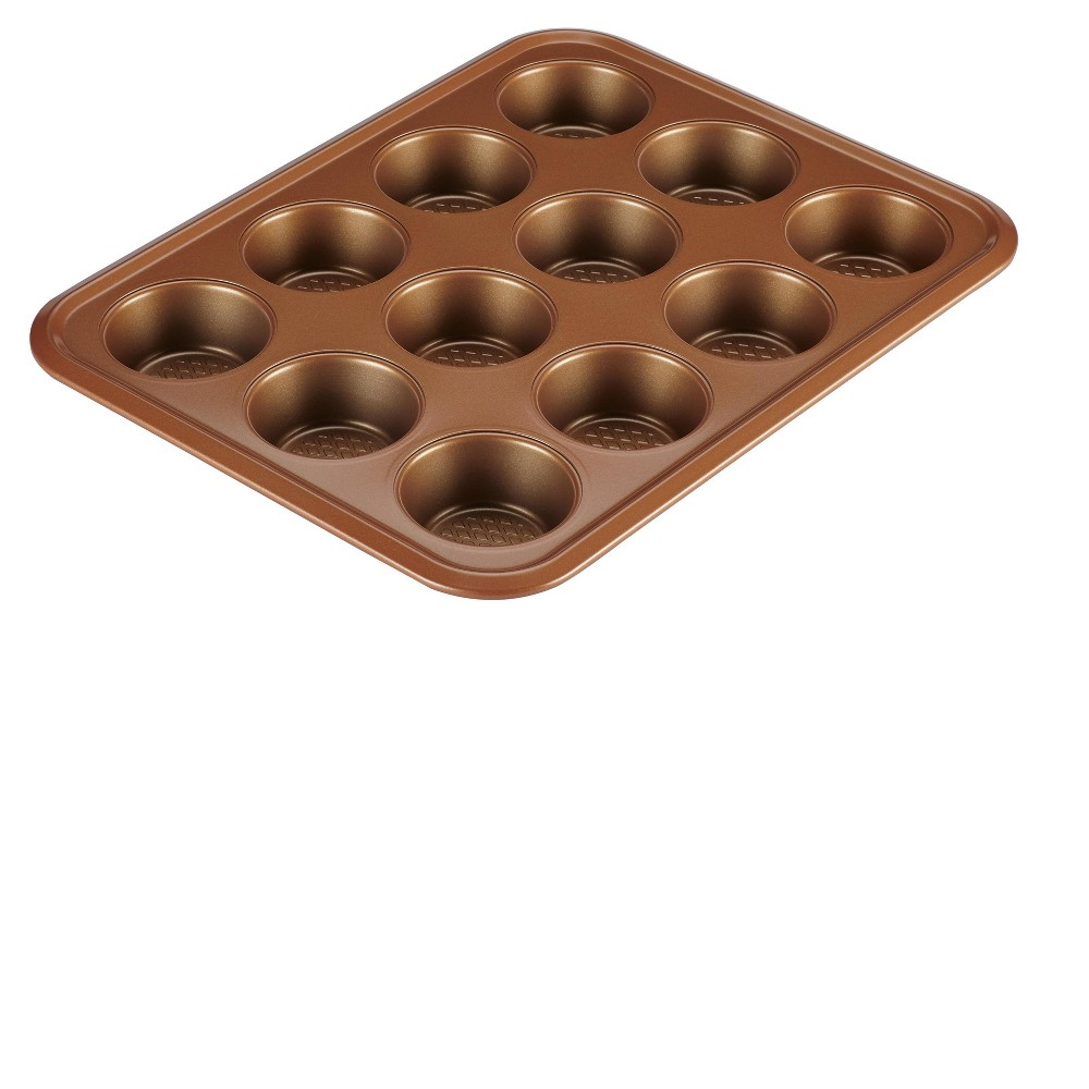 Ayesha Curry Bakeware 12cup Muffin Pan Copper (Brown)