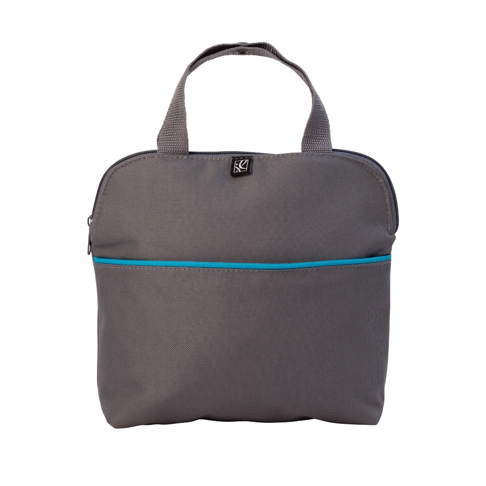 Image of J.L. Childress MaxiCOOl Four Bottle Cooler Bag - Gray Teal