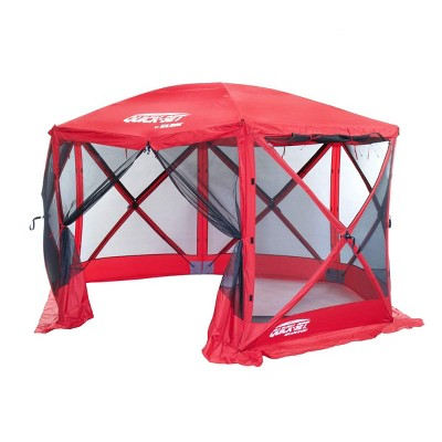 Quick-Set 14202 Escape Sport Screen Camping Canopy Gazebo Tailgate Tent, Red
