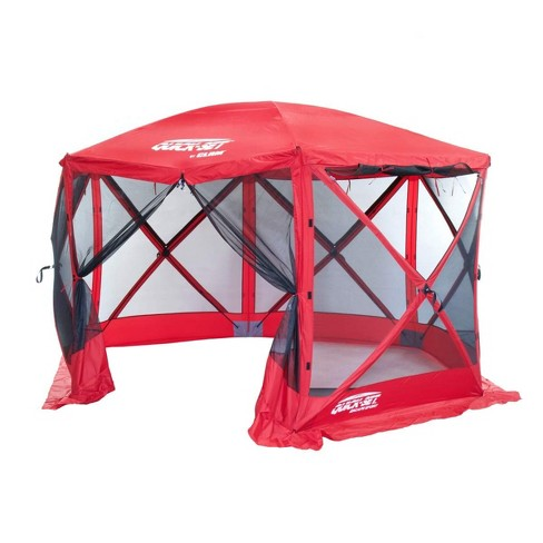 Quick-Set 14202 Escape Sport Screen Camping Canopy Gazebo Tailgate Tent, Red - image 1 of 1