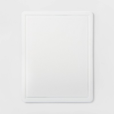 11 x14  Nonslip Poly Cutting Board White - Made By Design™