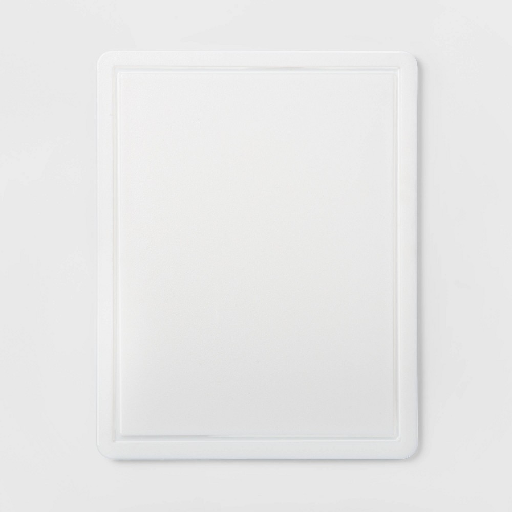 "Image of ""11""""x14"""" Nonslip Poly Cutting Board White - Made By Design"""