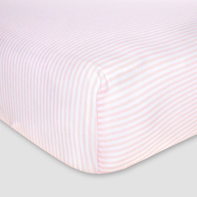 Burt's Bees Baby® Organic Fitted Crib Sheet - Bee Essentials - Pink