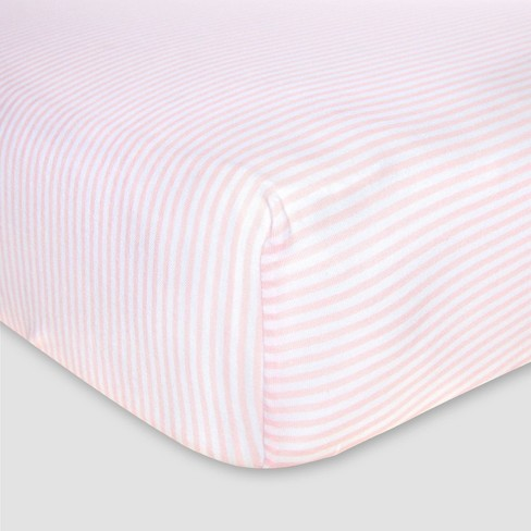 Burt's Bees Baby® Organic Fitted Crib Sheet - Bee Essentials - Stripe - image 1 of 2