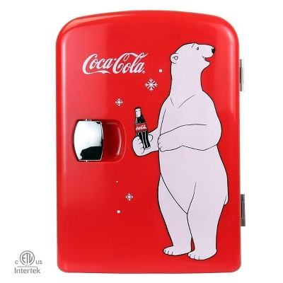 Coca-Cola 0.14 cu ft Personal Refrigerator - Red