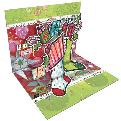 8ct Happy Christmas Pop-Up Boxed Cards