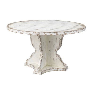 Olivia Aged Round Dining Table Cream - Treasure Trove Accents