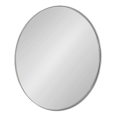 """28"""" Rollo Round Wall Mirror Silver - Kate & Laurel All Things Decor"""