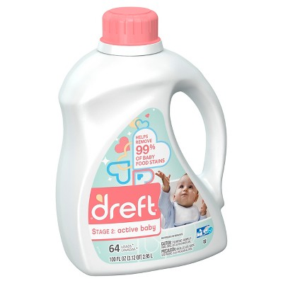 Dreft Stage 2: Active Baby HEC Liquid Laundry Detergent 100 oz