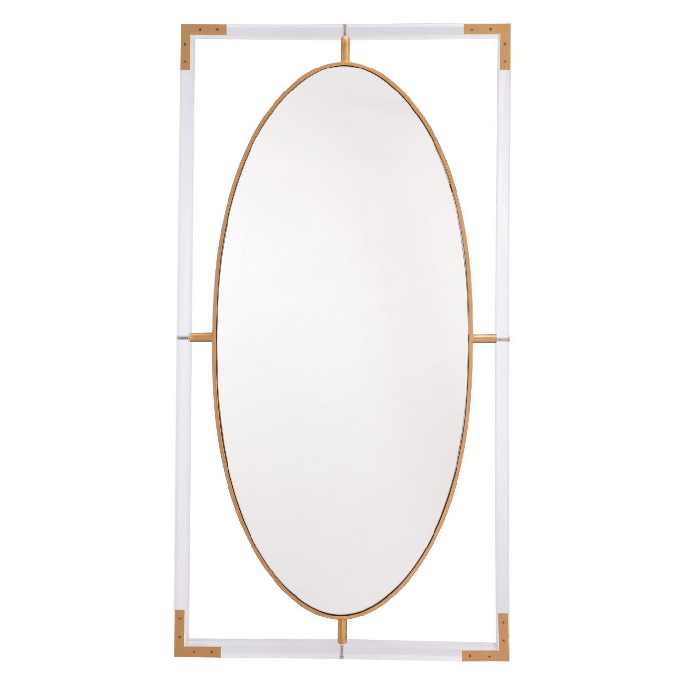 "ZM Home 42"" Modern Rectangular Mirror Clear - image 2 of 2"
