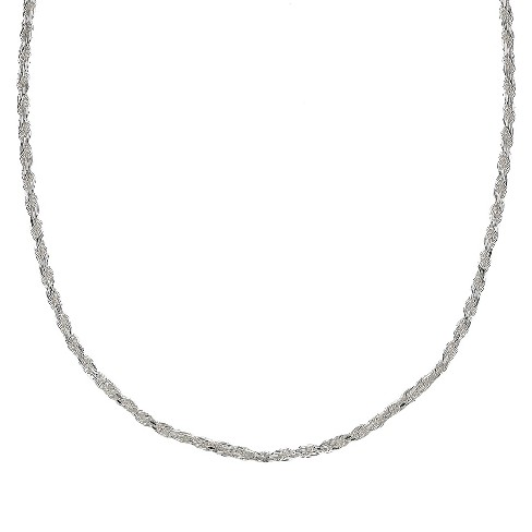 Sterling Silver Rope Chain Necklace - Silver - image 1 of 1