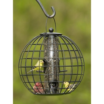 Mixed Seed Globe Cage Feeder - Gardener's Supply Company