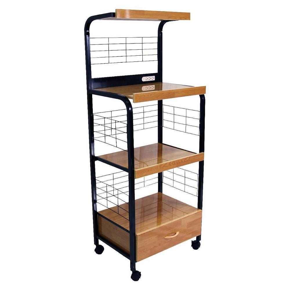 Image of Metal Microwave Cart Black - Home Source Industries