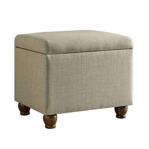 Storage Ottoman Tan - HomePop - image 1 of 10