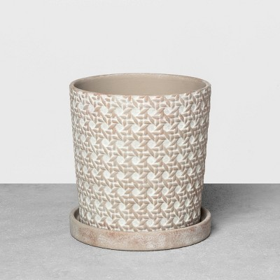 7  Caning Planter Gray - Hearth & Hand™ with Magnolia