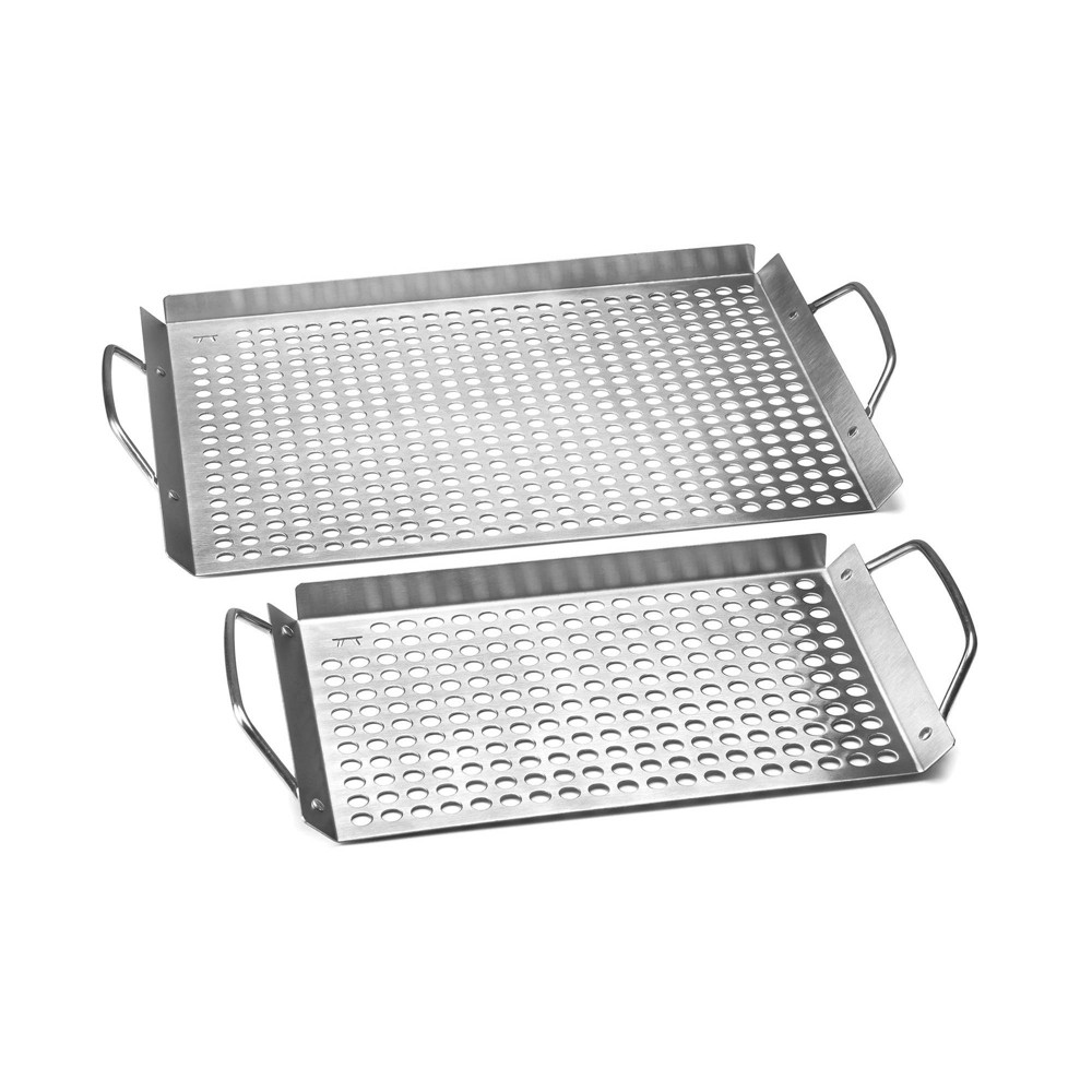 Image of 2pc Stainless Steel Grill Grid Set - Outset