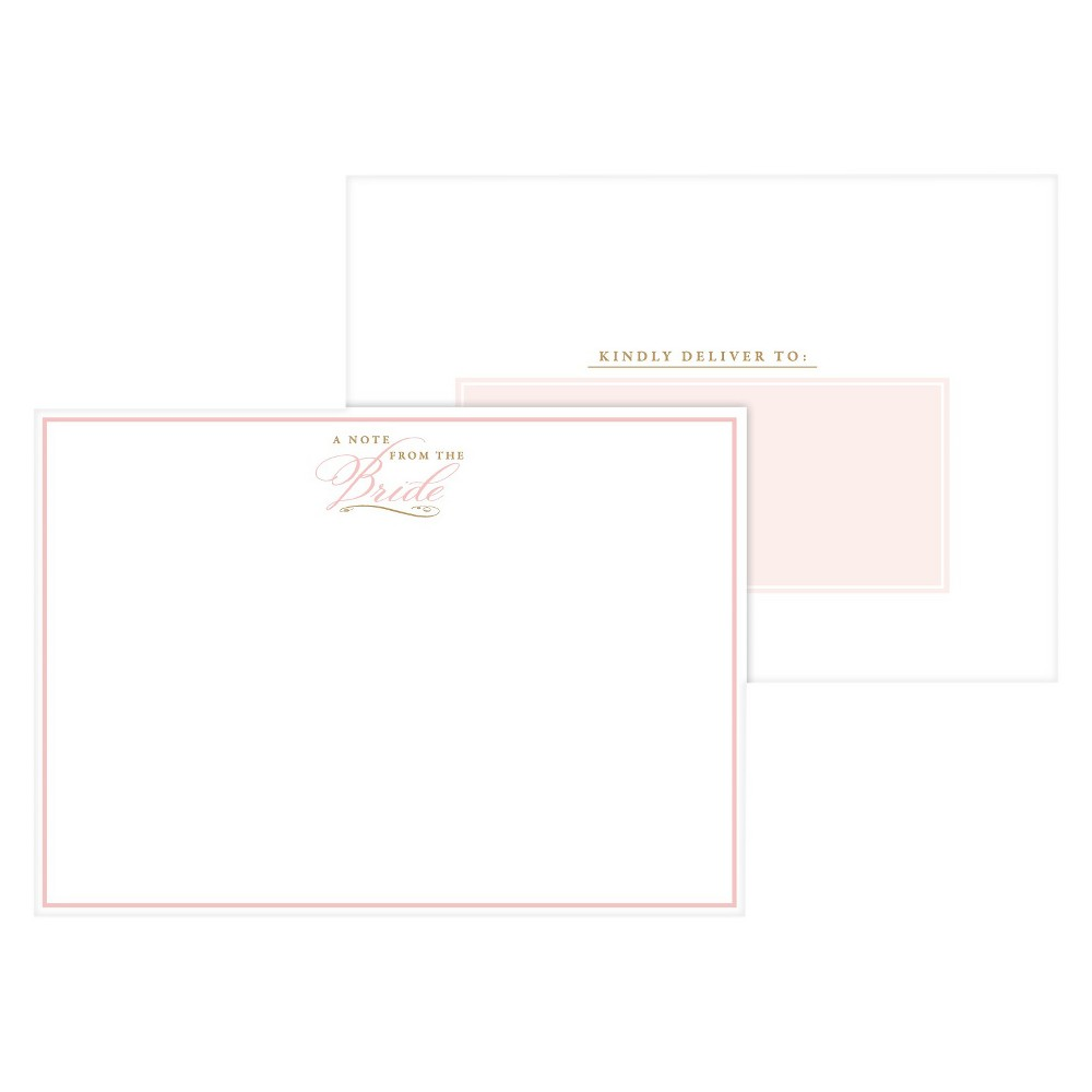 Image of 2ct A Note From the Bride Blush Formal Post Cards, Pink