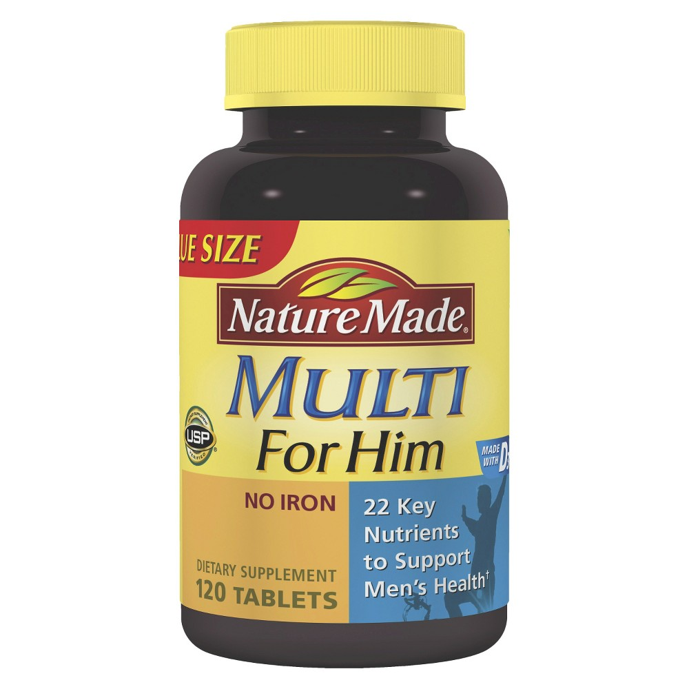 Nature Made Men's Multivitamin Dietary Supplement Tablets - 120ct