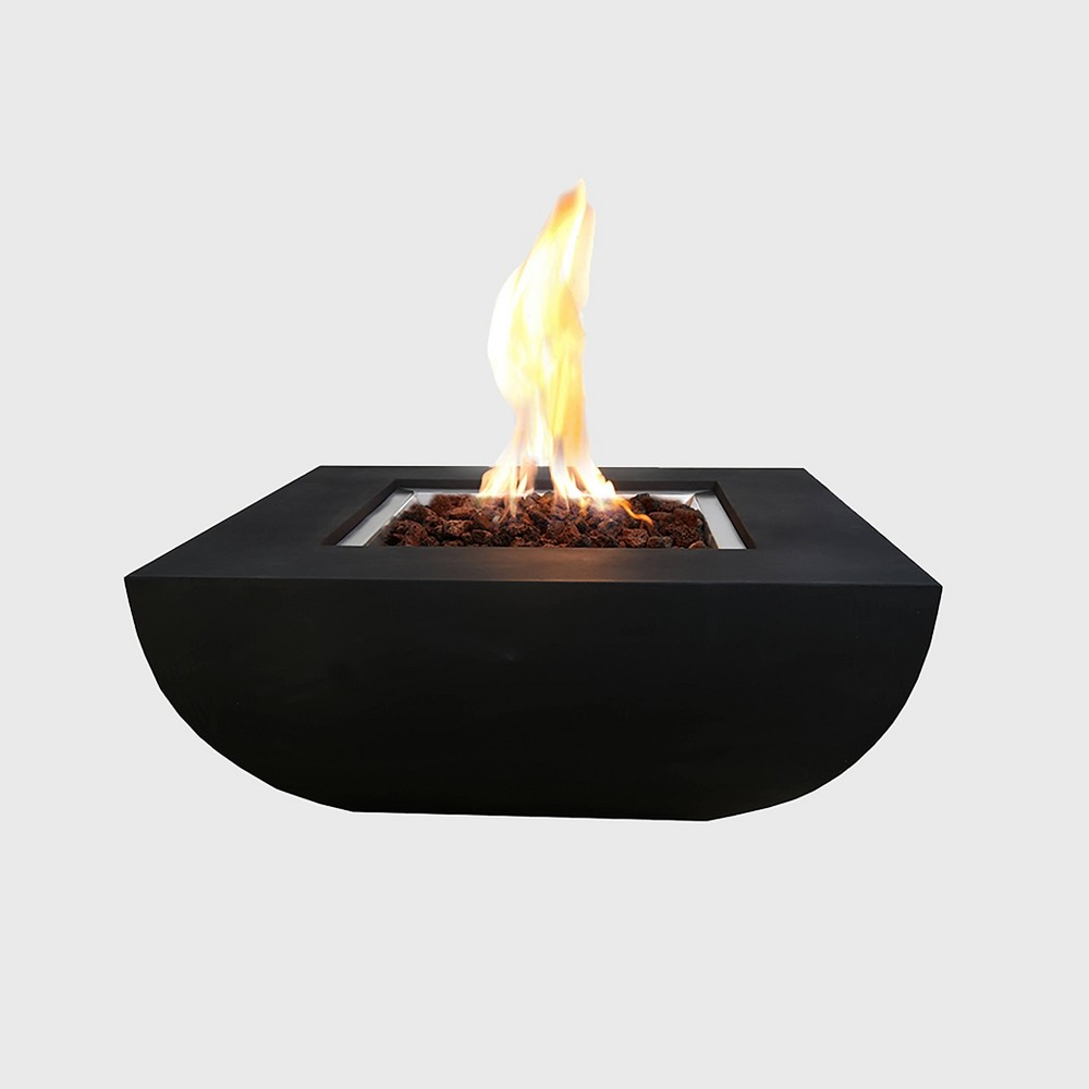 Image of Aurora Outdoor Propane Fire Table - Black - Modeno