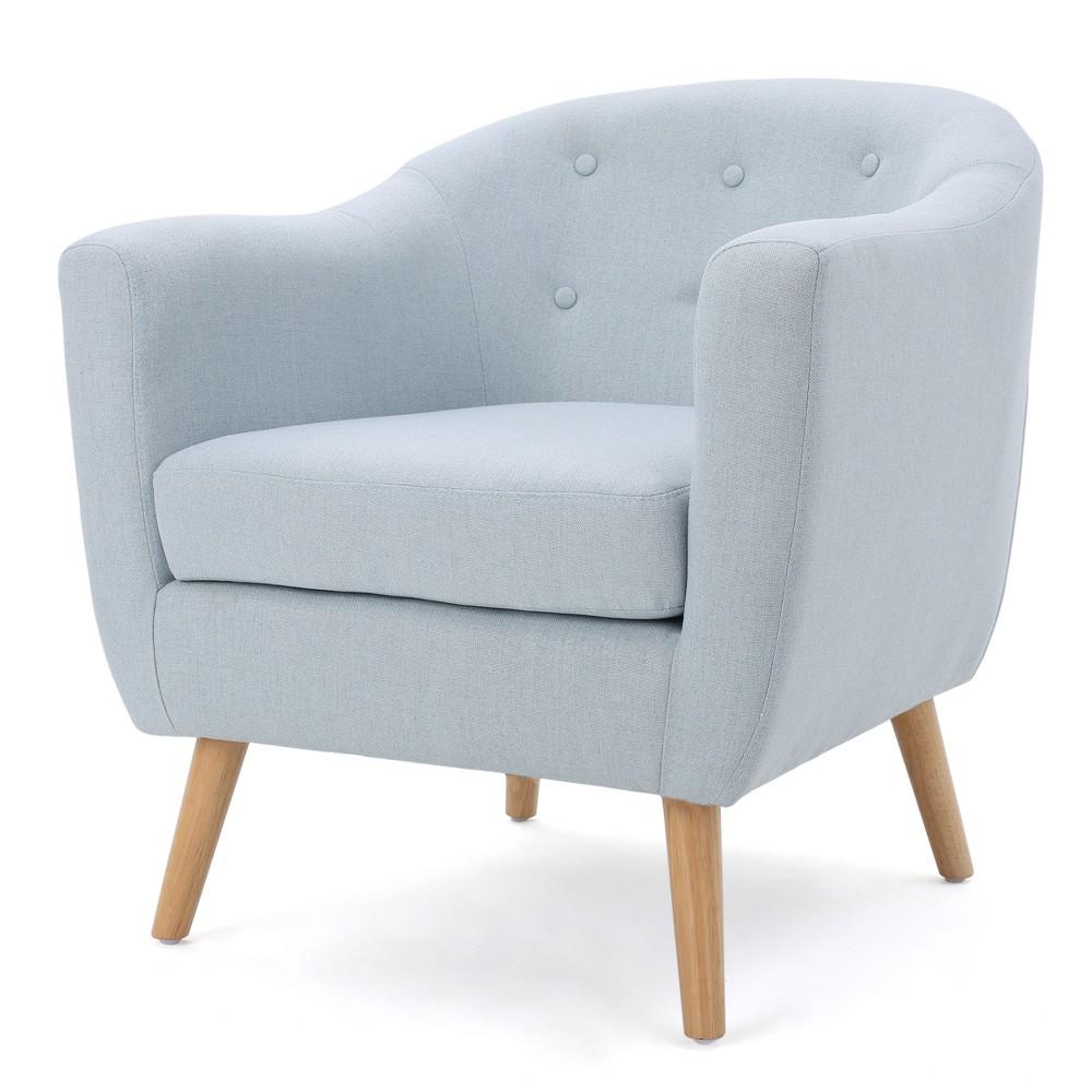 Lorelai Metropolitan Club Chair - Light Sky - Christopher Knight Home