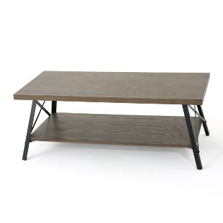 Camaran Industrial Coffee Table Gray - Christopher Knight Home