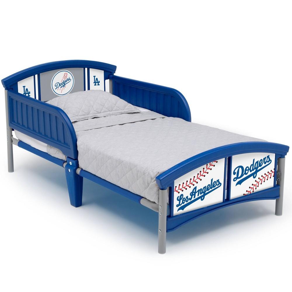 Image of Toddler Los Angeles Dodgers MLB Plastic Bed - Delta Children