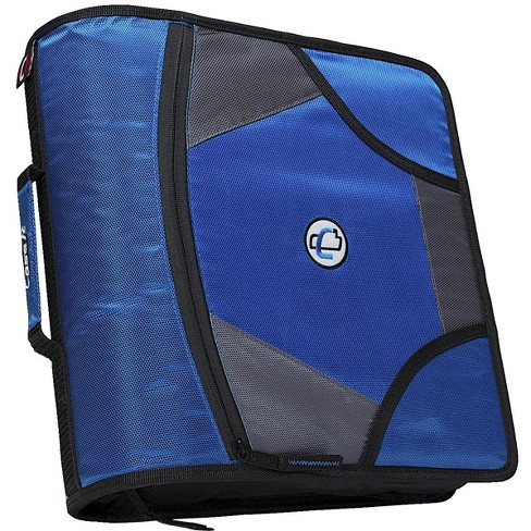 Case-it Zipper Binder with 5 Tab Files, D-Ring, 4 Inches, Blue - image 1 of 3