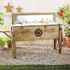 87qt Outdoor Wooden Beverage Cooler Brown - Backyard Expressions - image 2 of 4