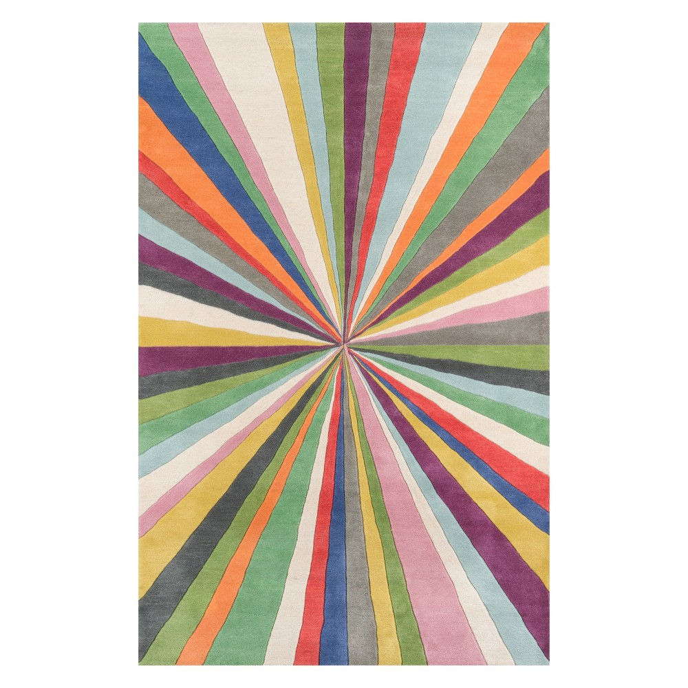 5'X8' Stripe Tufted Area Rug - Momeni, Multicolored