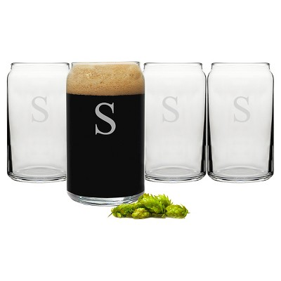 Cathy's Concepts 16 oz. Personalized Craft Beer Can Glasses (Set of 4)-S