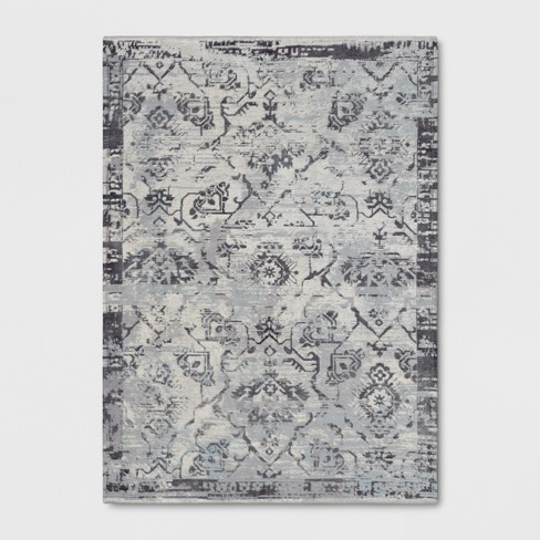 Faded Gray Woven Area Rug - Threshold™ - image 1 of 3