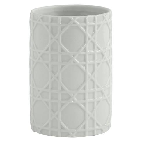 Wicker Tumbler White - Cassadecor - image 1 of 1