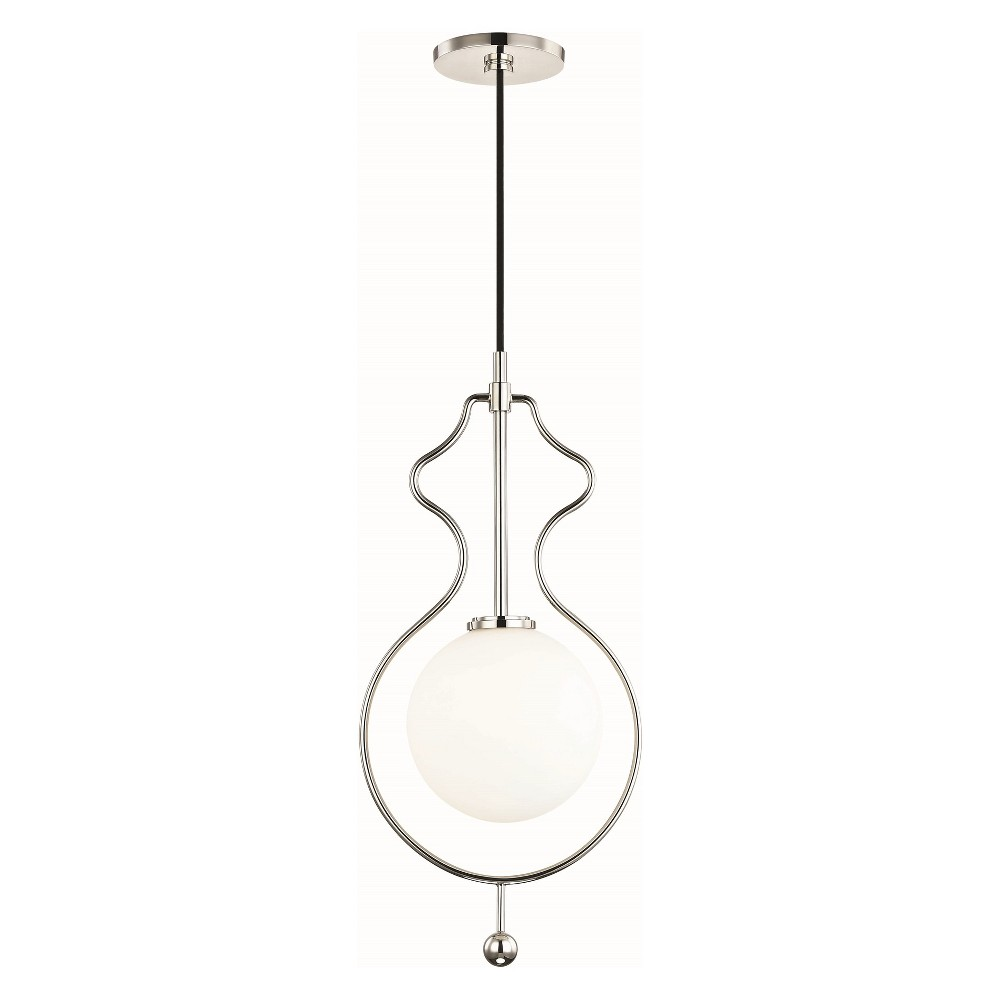 Image of Abigail 1-Light Large Pendant Chandelier Brushed Nickel - Mitzi by Hudson Valley