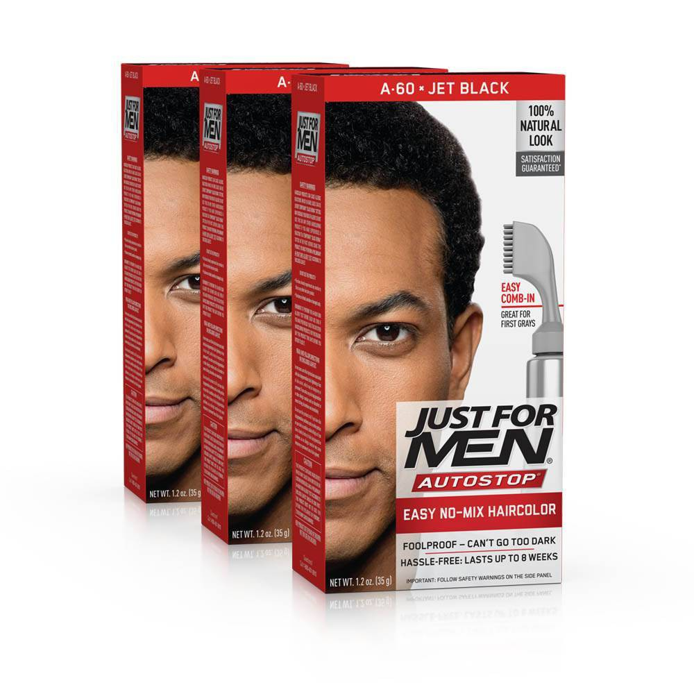 Image of Just For Men Auto Stop Jet Black Permanent Hair Color - 3pk