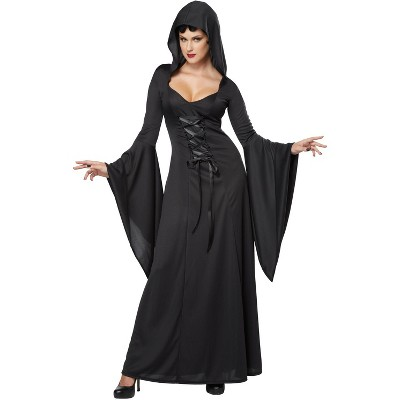 California Costumes Deluxe Hooded Robe Adult Costume (Black)