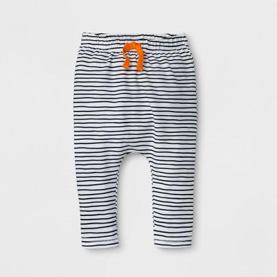 Baby Boys' Stripe Leggings - Cat & Jack™ White 0-3M