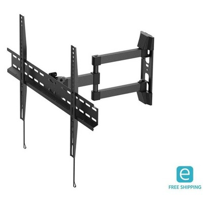 Monoprice Full-Motion Articulating TV Wall Mount Bracket - For Flat Screen TVs 37in to 70in, Max Weight 77lbs, Extension