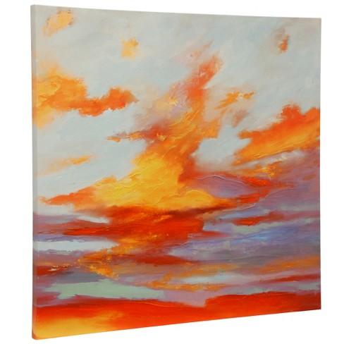 "36"" Oxidized Skies I Stretched Canvas Decorative Wall Art - StyleCraft - image 1 of 1"
