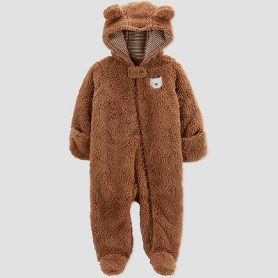 Baby Boys' Bear Pram Jacket - Just One You® made by carter's Brown 3M