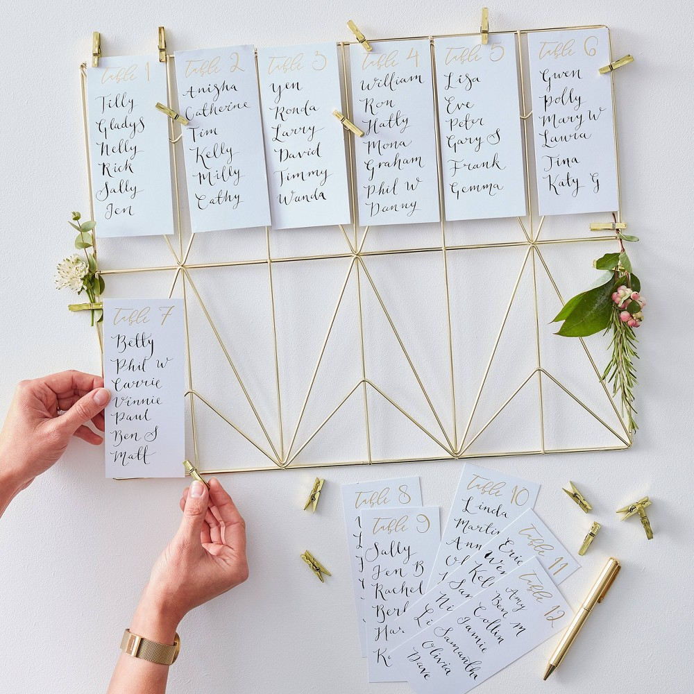 Image of Wire Frame Table Plan Set