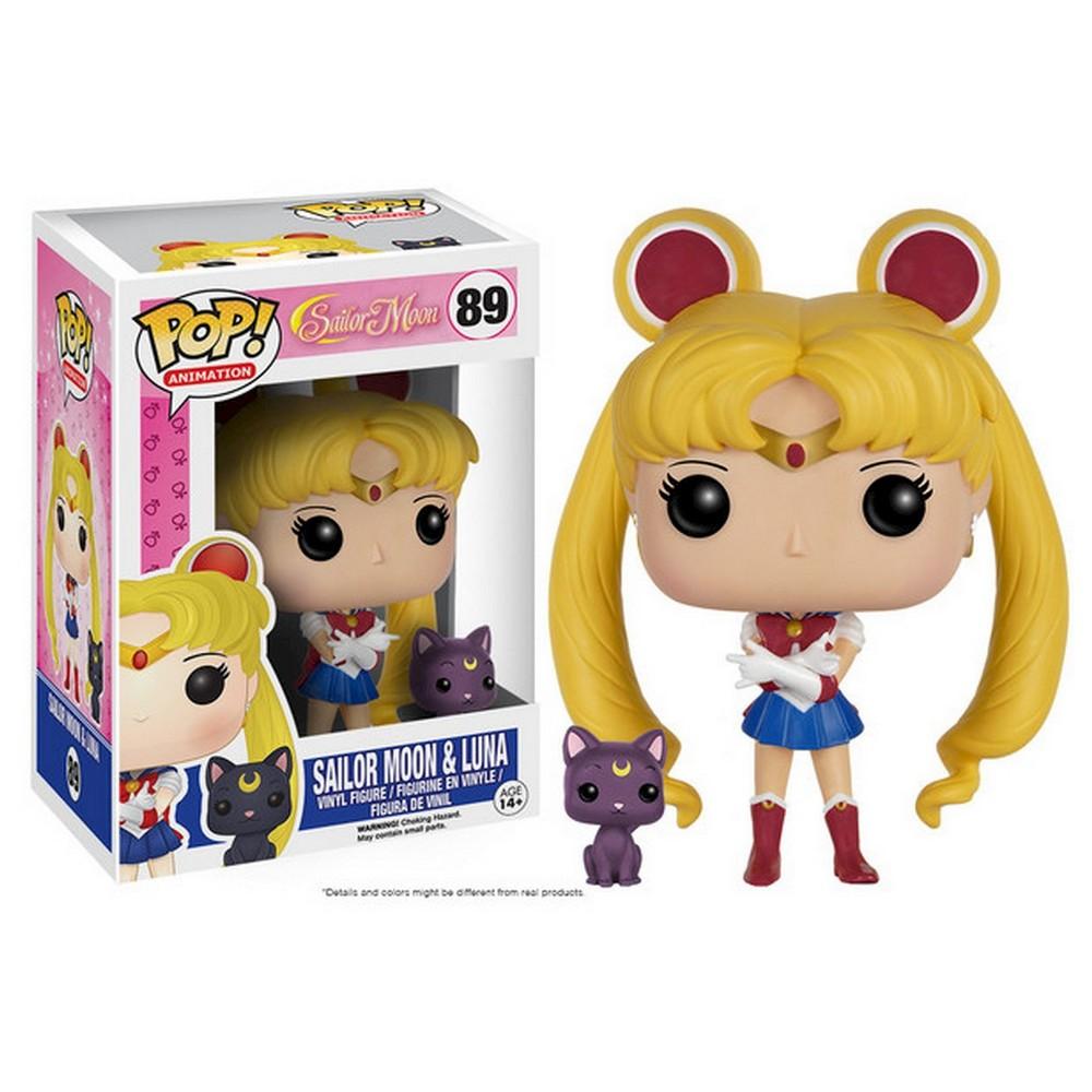 Pop! Anime: Sailor Moon - Sailor Moon w/ Luna