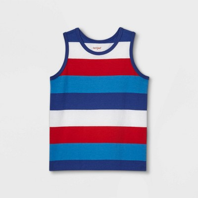 Toddler Boys' Adaptive 4th of July Striped Tank Top - Cat & Jack™